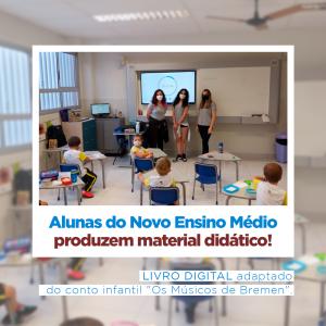 Alunas do 1º ano do Novo Ensino Médio produzem material didático!